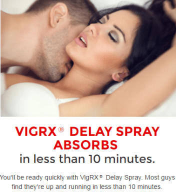 VigRX Delay Spray in Action